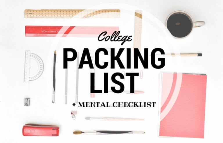 college packing list + mental checklist (#collegebound series) | the