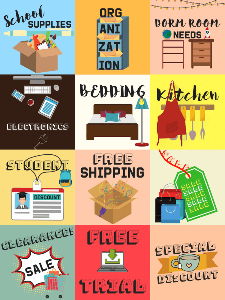 You Can Take Advantage Of All The Discounts Deals And Sales On School Supplies Dorm Room Needs Electronics Kitchen Appliances More Student