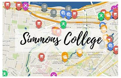 simmons college campus map. simmons college campus map
