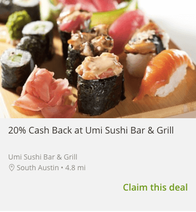Get Cash Back With Groupon S Card Linked Deals In Austin