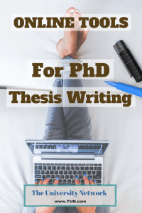 Thesis writing tools