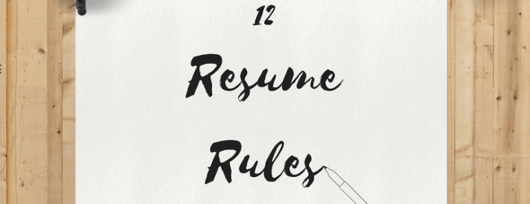 the complete resume guide for college students 12 rules for resume perfection the university network - Resume Rules