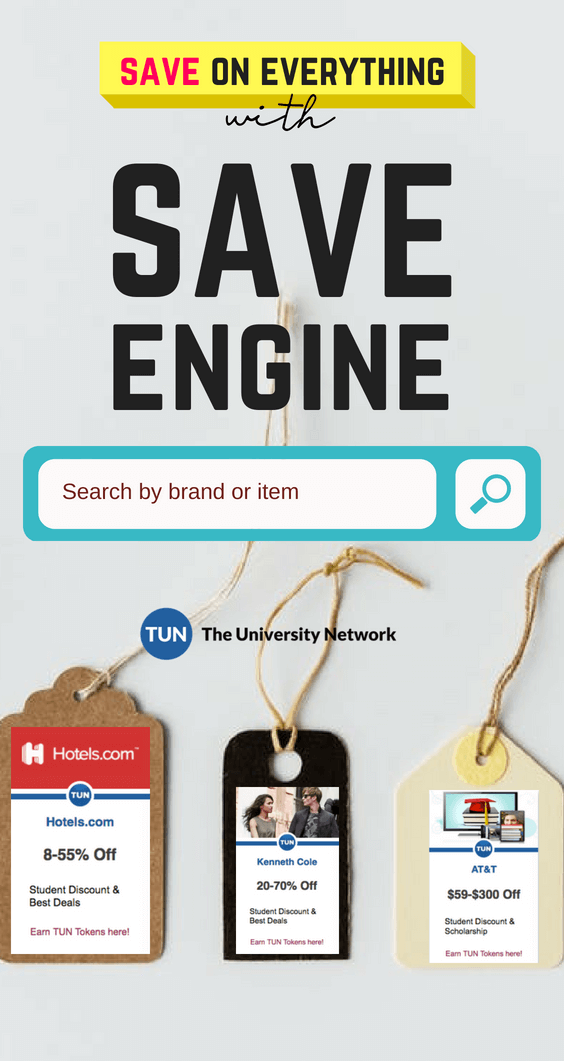 search AMC Theatres and other brands for discounts for students with the coupon save engine