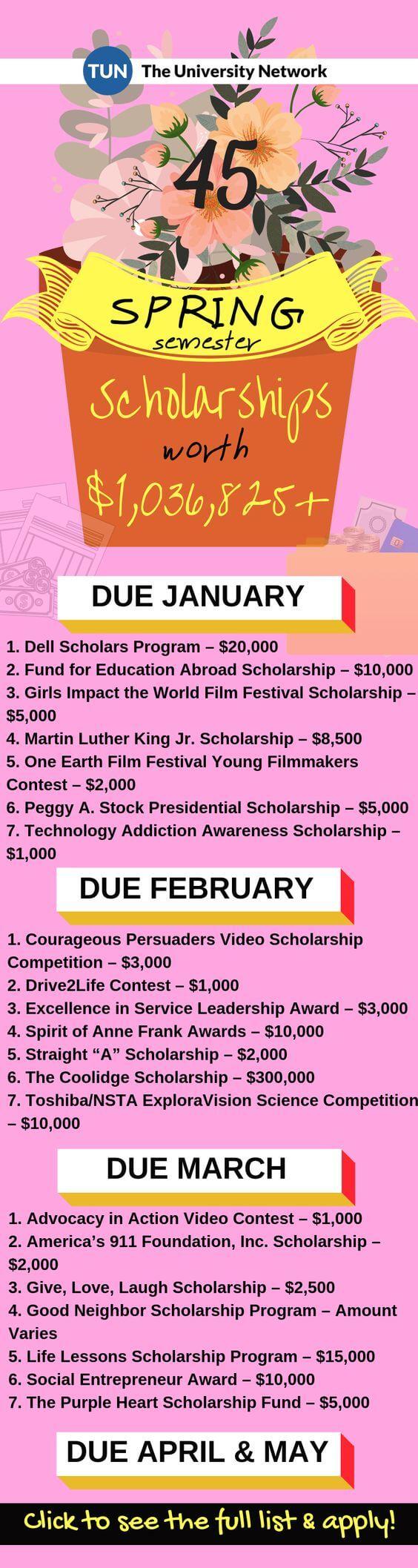 spring semester scholarships