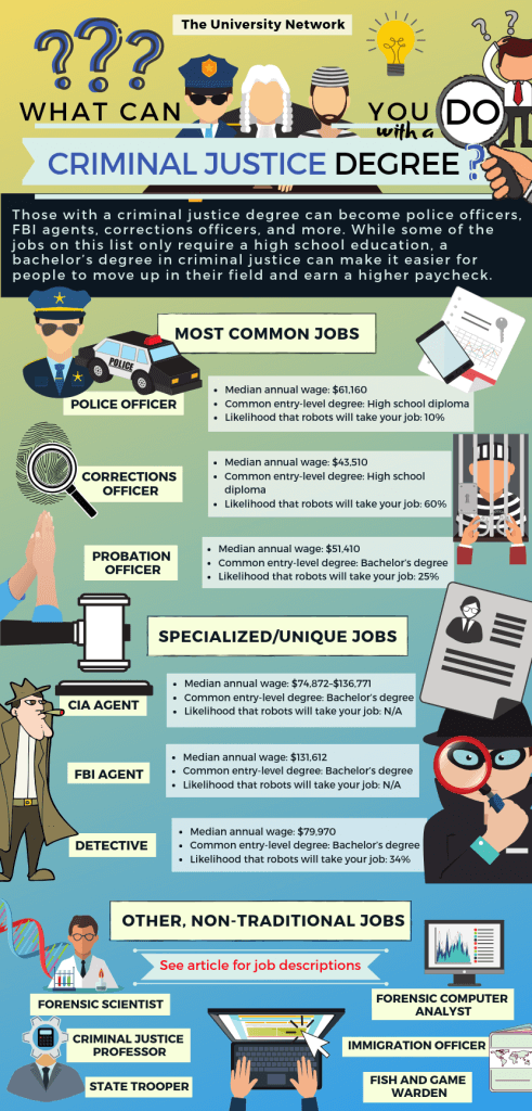 12 Jobs For Criminal Justice Majors The University Network