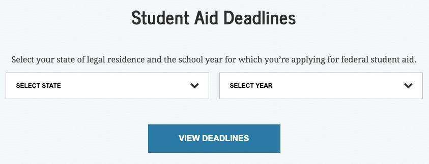 Scadenze degli aiuti agli studenti degli Stati
