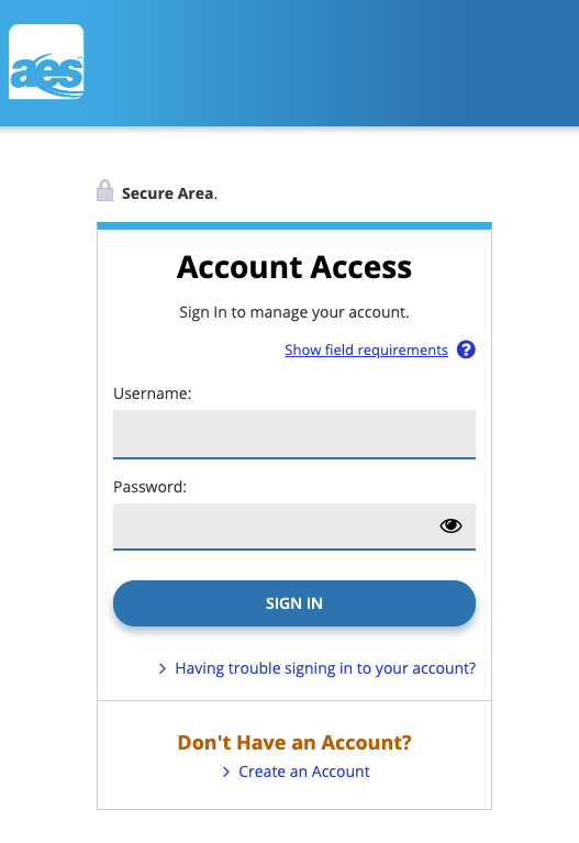 AES Account Access