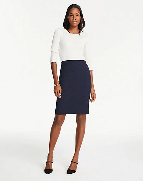 The Pencil Skirt in Pindot, Ann Taylor