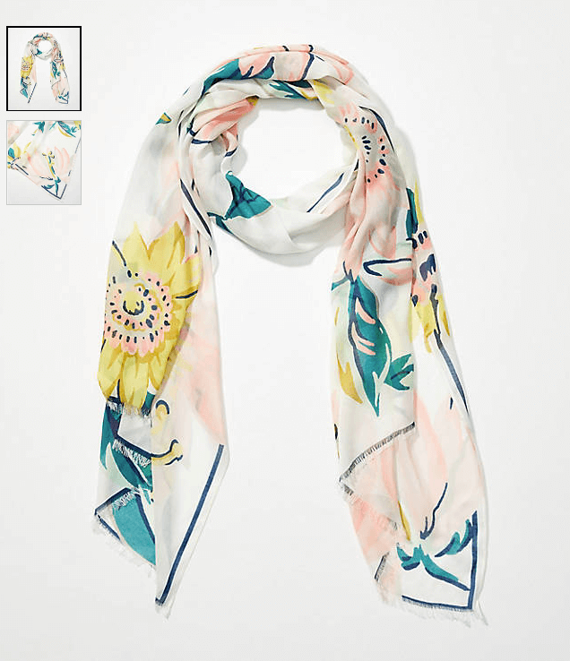 Sciarpa floreale ad acquerello