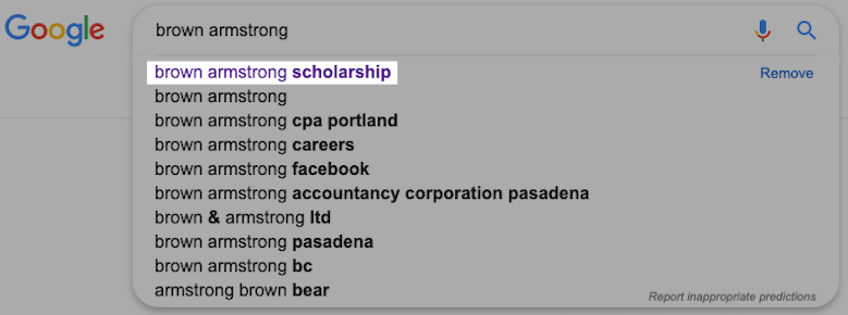 brown armstrong search result
