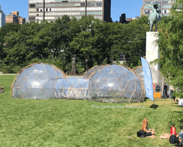 Greta Thunberg Tours 'Pollution Pods' At The U.N.