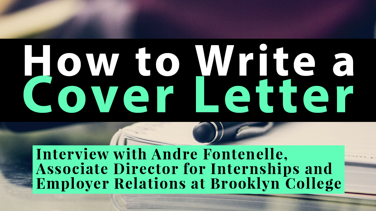 How To Write A Cover Letter The University Network
