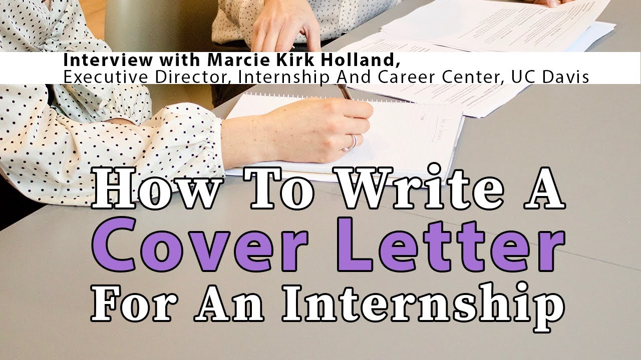 How To Write Cover Letter For Internship With Example Tun