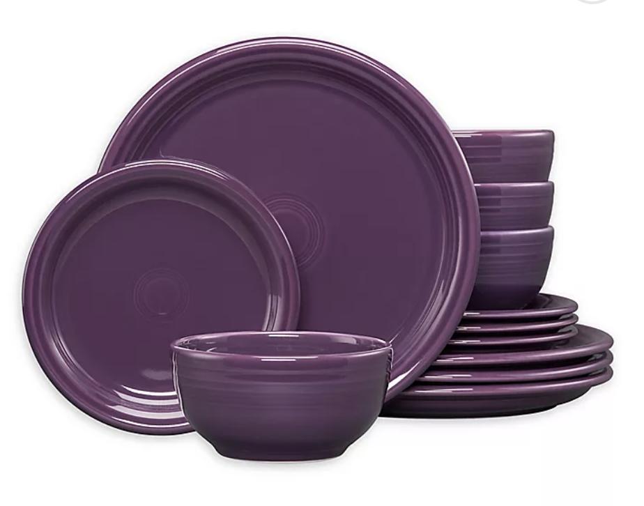 Servizio di piatti da bistrot 12 pezzi Fiesta