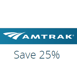 25% off to any destination between New Haven, CT and Washington, DC with 14 days advance booking for Saturday and select weeknight trains