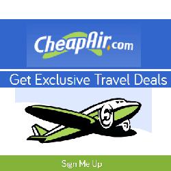 Melden Sie sich kostenlos bei CheapAir an, um die niedrigsten Flugpreise zu ermitteln, die neuesten Angebote zu erhalten und als Erster über Sonderangebote zu erfahren.
