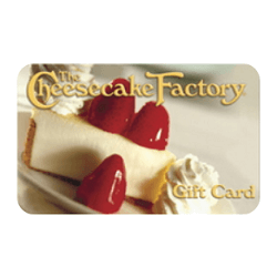 Up to 15% off The Cheesecake Factory gift cards