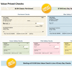 Save up to 80% off bank prices on personal, laser and business checks.
