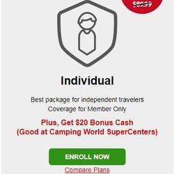Sparen Sie bis zu 30% mit Einführungspreisen für neue Mitglieder + erhalten Sie Bonusgeld (gut bei Camping World Supercenters)!