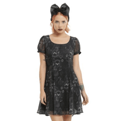 Save up to 20% off dresses at Hot Topic. Great deals on skater dresses.