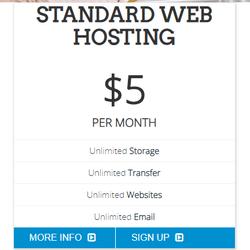 学生は最初の1年間、月額$ 5の標準Webホスティングパッケージを無料で入手できます。