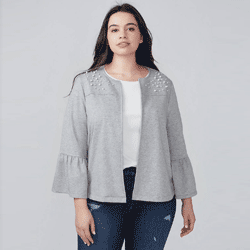 Save up to 85% off jackets and coats at Lane Bryant