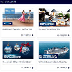 Save big with cruise discounts, packages and more.