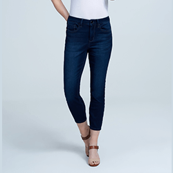 Save up to 75% on sale items, including women's jeans, leggings, shorts, tees and blouses!