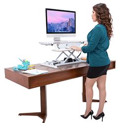 着席式のデスクライザー、着席式の机、およびアクセサリを含む販売アイテムを最大で33%節約できます。