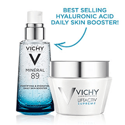 Save up to 20% on select Vichy skin care, anti-aging, hydration and starter kits!