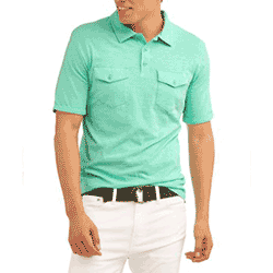 Save up to 80% off men's polos and golf shirts at Walmart
