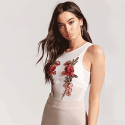 Save up to 70% off women's bodysuits at Forever 21