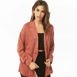 Ahorre hasta 60% de descuento en chaquetas, ponchos, kimonos y blazers para mujeres en Forever 21